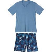 Pijama Masculino Daniela Tombini Curto Microfibra