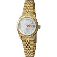 Relógio Orient Feminino 559Eb1X B1Kx Pulseira E Caixa Aço Dourado Mostrador Branco