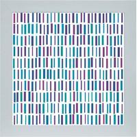 Quadro 65895 Abstrato 33X33 Cm Branco