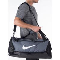 Mala Nike Brasilia M 9.0 - 60 Litros - Cinza Escuro/Preto