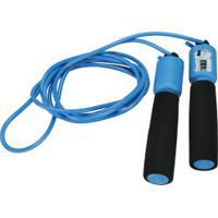 Corda De Pular Com Contador Analógico Oxer Jump Rope - Azul/Preto