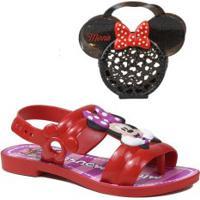 Sandália Infantil Grendene Kids Minnie Mouse + Brinde Bolsa Minine