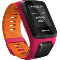 Monitor Cardíaco Com Gps Tomtom Runner 3 Music - Rosa/Laranja