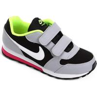 Tênis Infantil Nike Md Runner 2 Velcro Masculino - Masculino-Preto+Gelo