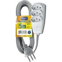 Extensão Elétrica Sort 5M 3 Tomadas 2P T 10A 250V Dn 1780 Daneva