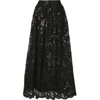 Alice+Olivia Sequinned Lace Maxi Skirt - Preto