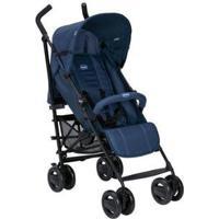 Carrinho De Bebê Passeio Chicco London Passion Reclinável 4 Posições - Unissex-Azul