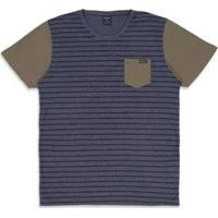 Camiseta Oakley Esp Voyage Stripe Masculino - Masculino-Preto