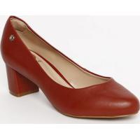 0b6023ccb667fa Sapato Tradicional Com Tag Metã¡Lica- Vermelho- Saltodumond