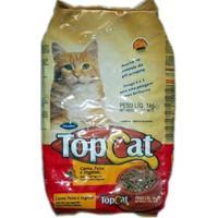 Racao Top Cat 1 Kg Sabor De Carne / Peixe / Vegetais