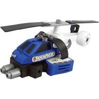 Conjunto De Montagem - Meu Pequeno Engenheiro - Garagem S/A - Helicóptero De Polícia - Candide