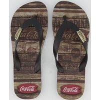 Chinelo Coca Cola Western Masculino - Masculino-Preto