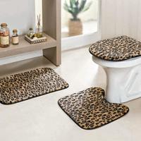 Jogo Banheiro Dourados Enxovais Safari Standard 3 Pecas Leopardo