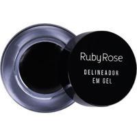 Delineador Em Gel Ruby Rose Em Gel Preto - Feminino-Incolor