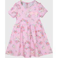 Vestido Carinhoso Infantil Floral Rosa