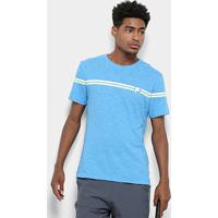 Camiseta Fila Stripe Masculina - Masculino-Azul