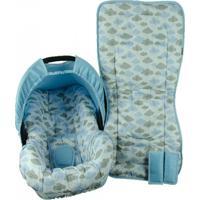 Conjunto Capa De Bebê Conforto E Capa De Carrinho Alan Pierre Baby 0 A 13 Kg - Nuvem Azul Nova