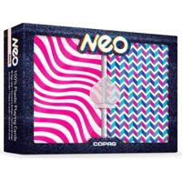 Baralho Neo Wave Estojo Duplo 100% Plastico - Copag - Tricae