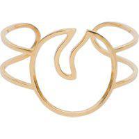 Bracelete Feminino Leaf Em Ouro