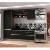 Cozinha Compacta Veneza 6 Pt 3 Gv Carvalle Com Onix