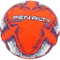 Bola De Futebol De Campo Penalty S11 R4 Ix - Branco/Laranja
