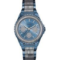 Relógio Guess Feminino Aço Azul - W0847L1