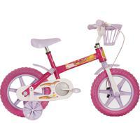 Bicicleta Aro 12 Arco Íris Rosa Track & Bikes.