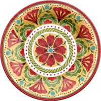 Prato Para Jantar Carmen- Vermelho & Amarelo- 2Xø27Chudson