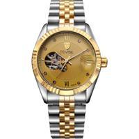 Relógio Tevise 8391A Masculino Automático Pulseira De Aço - Dourado