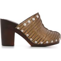 Dorothee Schumacher Sapato Com Estampa Pele Lagarto Com Salto 100Mm - Marrom