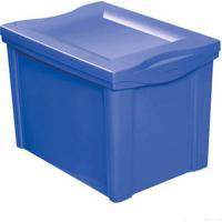 Caixa Organizadora Com Tampa 30L Plástico Azul Color Ordene