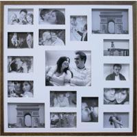 Painel De Fotos Bee Collection 73X73 Rustics 14 Fotos 10X15 E 2 Fotos 15X21 Imbuia Kapos