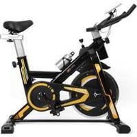 Bicicleta Spinning Com Roda De Inercia De 13Kg - Preto E Amarelo - Unissex-Preto+Amarelo