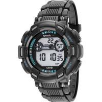 Kit De Relógio Digital Speedo Masculino + Carregador Portátil - 81172G0Evnp2Kc Preto