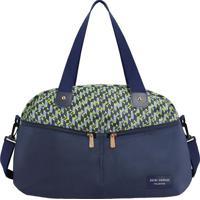 Bolsa De Viagem - Azul Marinho & Verde Claro - 29X42Jacki Design