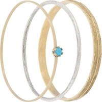 Iosselliani Conjunto 3 Braceletes 'Puro' - Cinza