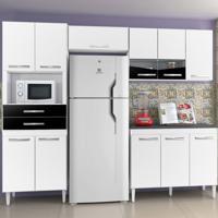 Cozinha Lívia 11 Portas 2 Gavetas Branco E Preto