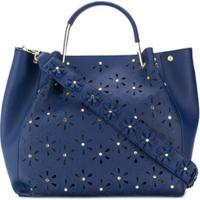Tosca Blu Bolsa Tiracolo Floral Com Tachas - Azul