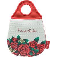Lixeira Para Carro Frida Kahlo® Floral- Branca & Vermelhurban