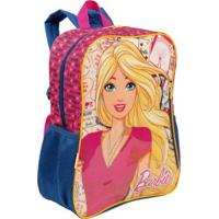 Mochila Grande Barbie 19M Infantil Sestini - Feminino-Rosa