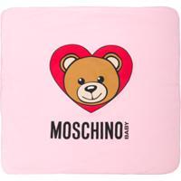Moschino Kids Cobertor Com Estampa - Pink & Purple