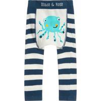 Meia Calça Legging Polvo Blade And Rose Azul