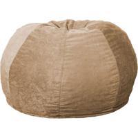 Puff Confort Maçã Suede Bege 100 Cm