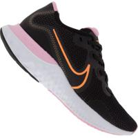 Tênis Nike Renew Run - Feminino - Preto/Rosa