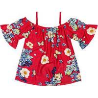 Blusa Marisol Vermelha Menina