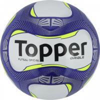 Bola De Futsal Topper Drible - Branco Azul 0e8a8f9970710