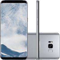 "Smartphone Samsung Galaxy S8 - 64Gb - Octa-Core - 12Mp - Tela 5.8"" - Quad Hd - Prata - Android 7.0"