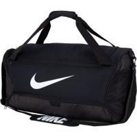 Mala Nike Brasilia M 9.0 - 60 Litros - Preto/Branco