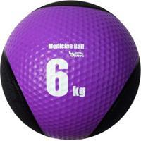 Medicine Ball Pista E Campo De Borracha Inflável Premium 6Kg - Unissex