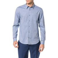 Camisa Regular Calvin Klein Geneva Bolso Mescla Marinho - 2